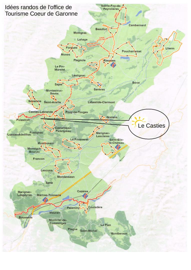 Les jolis chemins de randonnées autour du Camping Le Casties