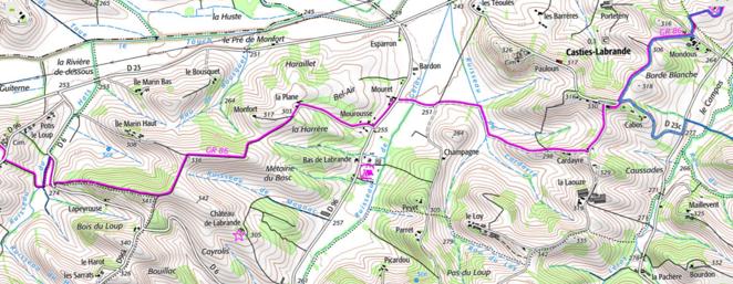 Le GR86, randonnées aux environs du Camping Le Casties